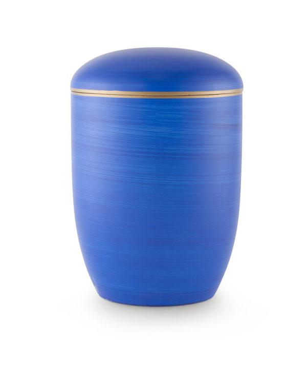 Zee-urn oceaanblauw met gouden rand