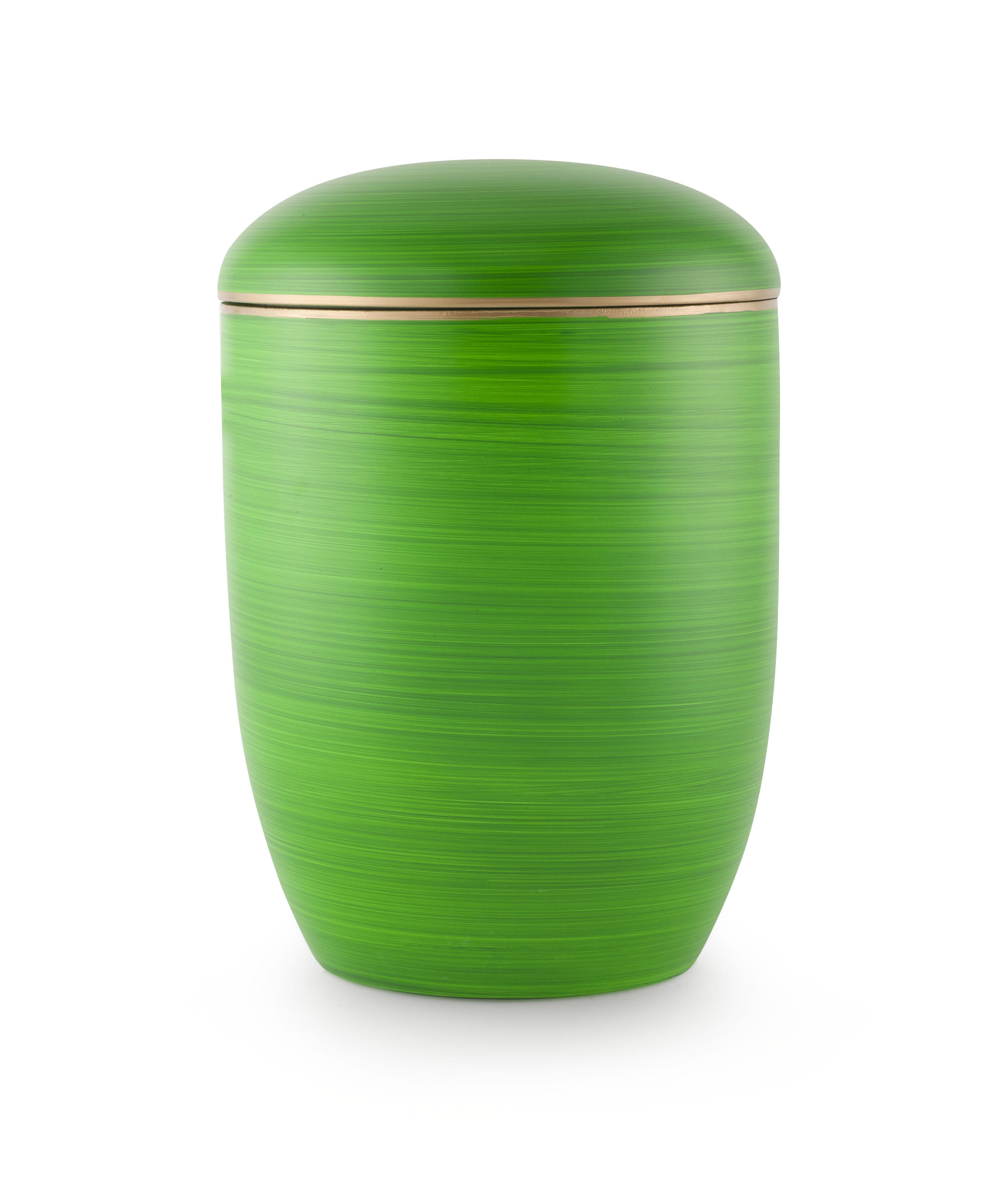 Zee-urn groen met gouden rand