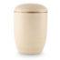 Zee-urn zandkleur met gouden rand
