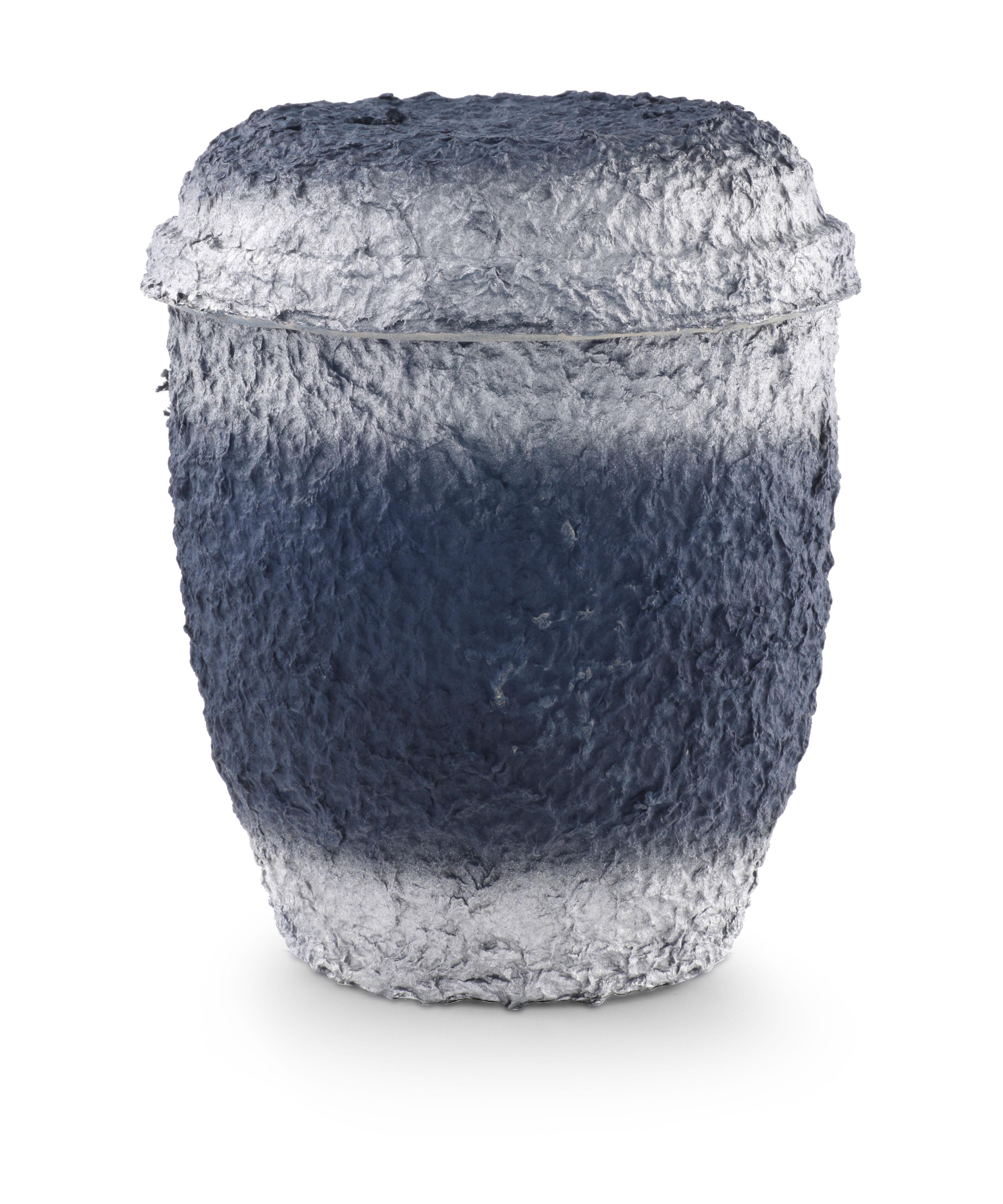Biologische urn blauw