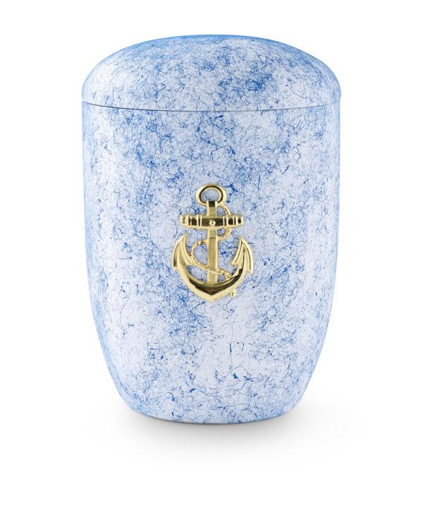 Zee-urn gevlekt met anker