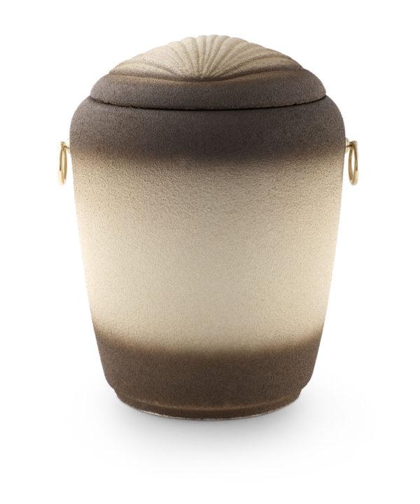 Zee-urn zand met schelp deksel - grote urn geschikt voor 2