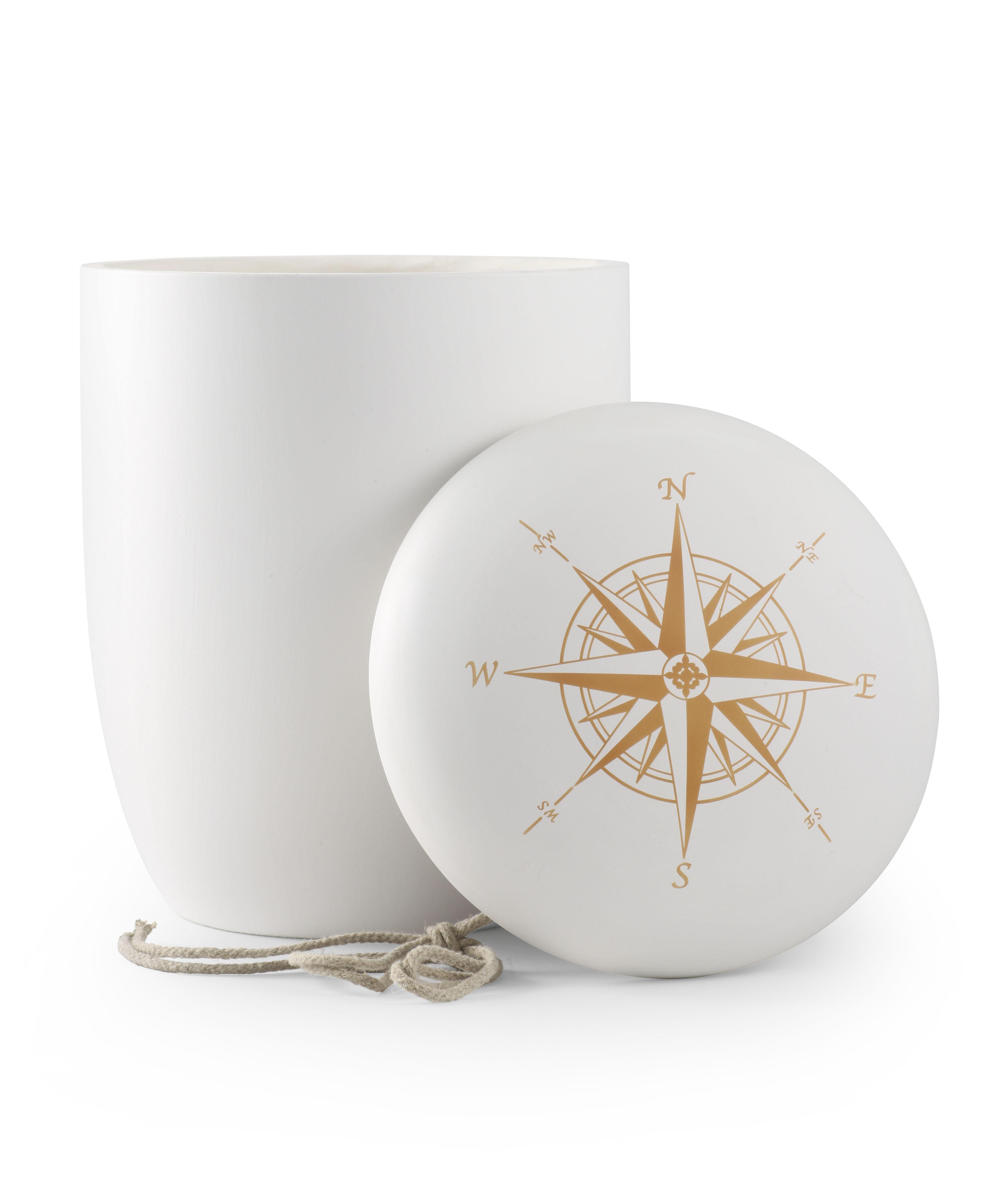 Biologische urn met kompas