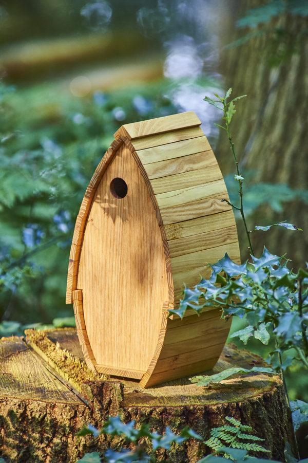 Vogelhuisje van hout handgemaakt
