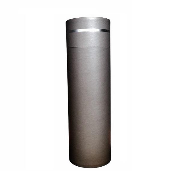 strooikoker warm grey met zilverband